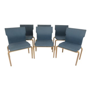 1960s Bill Stephens Style Bentwood Stackable Dining Chairs - Set of 6 For Sale