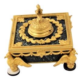 Antique Art Nouveau Brass Letter Rack Holder . Periods & Styles