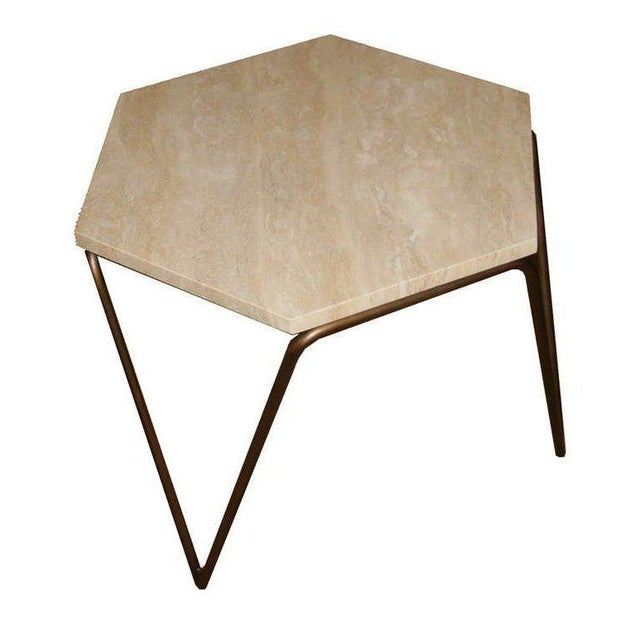 Not Yet Made - Made To Order Customizable Tom Tripod Hexagon Table For Sale - Image 5 of 6