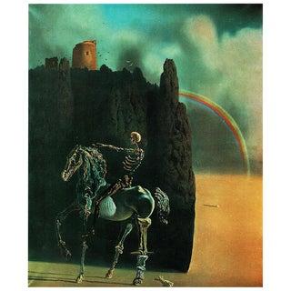 """1957 Salvador Dalí """"Le Chevalier De La Mort"""" Vintage Period Lithograph Print For Sale"""