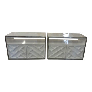 Lacquered Chippendale Chests - A Pair