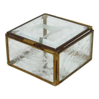 Glass Curio Jewelry Box
