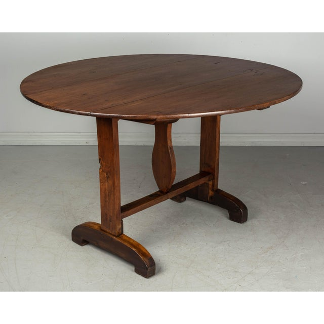 Brown 19th C. French Wine Tasting Table or Tilt-Top Table For Sale - Image 8 of 12