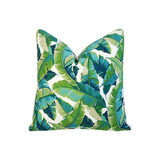 Custom-Made Tropical Iconic Banana Leaf Feather/Down Pillow - Image 1 of 2