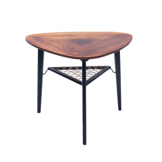 1960s Danish Modern Rosewood Accent Table For Sale