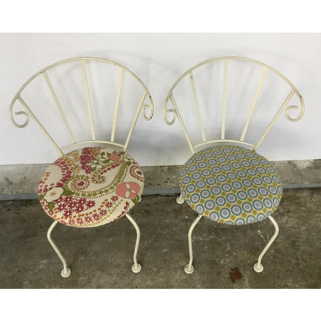 Mid-Century Painted Cast Iron Chairs - A Pair - Image 4 of 9