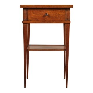 Mid 20th C. Small Walnut End Table With Single Drawer For Sale