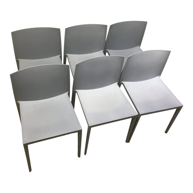 Modernistic Cazzaniga Stackable Chairs - Set of 6 For Sale