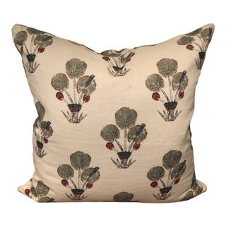 Shabby Chic Katie Leede Pillow in Thebes Linen - 22 Inch For Sale