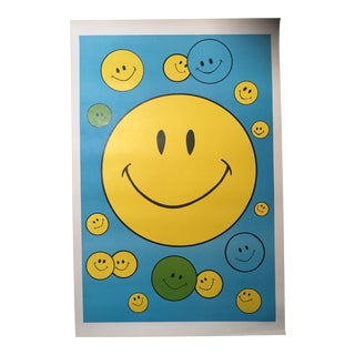 1960s Vintage Smiley Face Poster For Sale