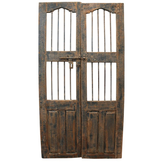 Reclaimed Architectural Wrought Iron Doors - A Pair - Image 1 of 11