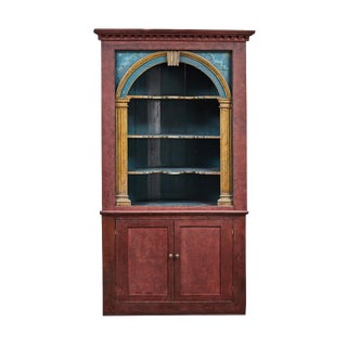 18th Century English Painted Corner Cabinet For Sale