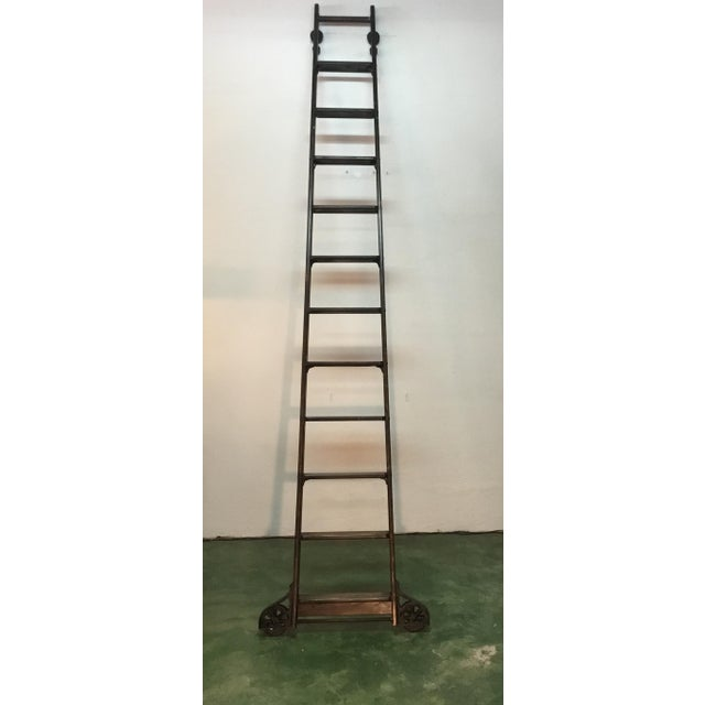 1920s English Traditional Mahogany Library Ladder For Sale - Image 13 of 13