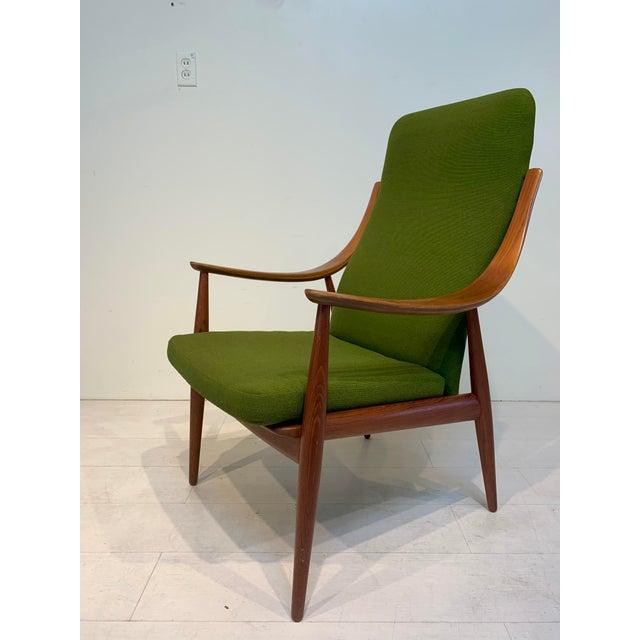 Wood Mid Century Modern Peter Hvidt & Orla Mølgaard-Nielsen for John Stuart Lounge Chair For Sale - Image 7 of 13