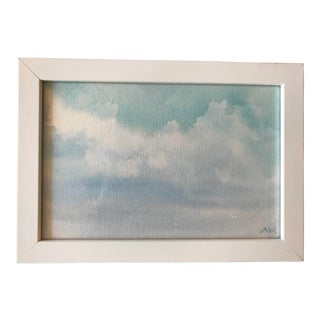 Contemporary Skyscape Watercolor Painting
