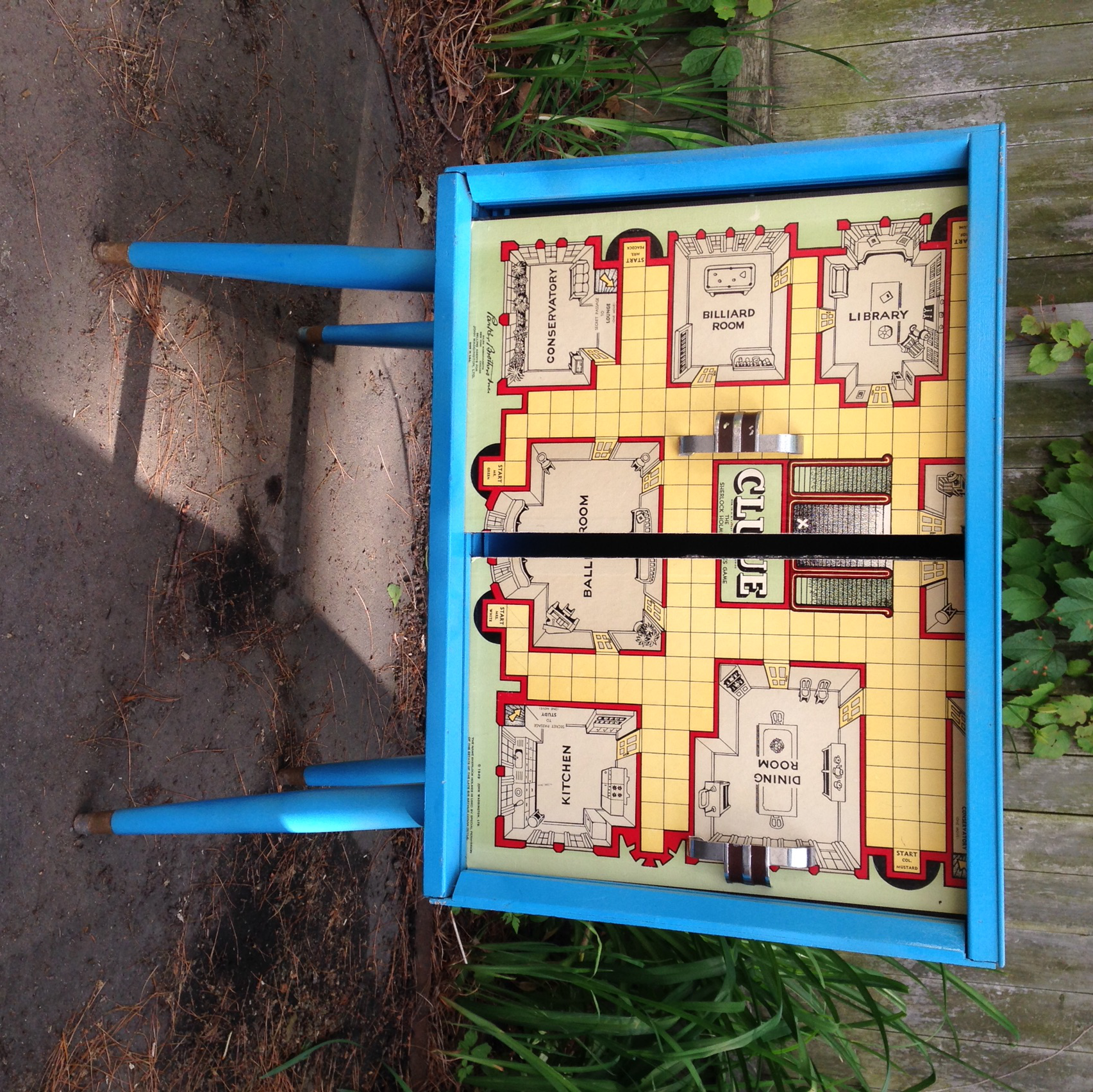 Refinished Clue Board Game Record Cabinet   Image 6 Of 9