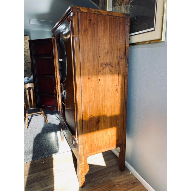 Asian Mid 20th Century Vintage Chinese Armoire For Sale - Image 3 of 13