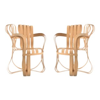 Pair of Frank Gehry for Knoll Cross Check Chairs For Sale