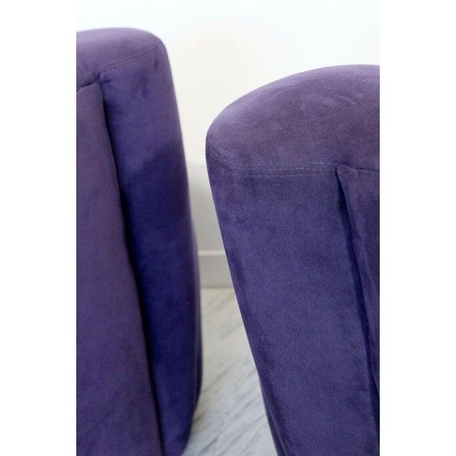Vladimir Kagan 1980s Vintage Contemporary Vladimir Kagan Corkscrew Swivel Chairs- A Pair For Sale - Image 4 of 9