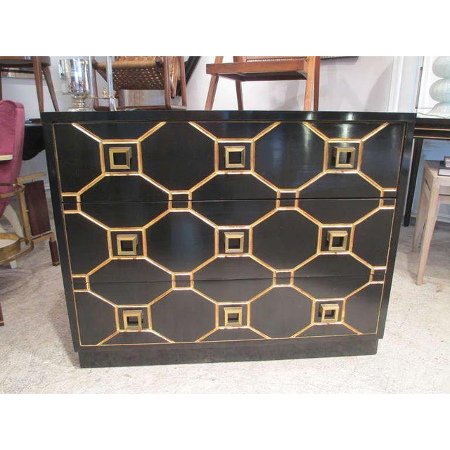 Dorothy Draper Custom Pair of Dorothy Draper Style Lacquered Commodes For Sale - Image 4 of 7