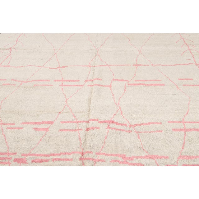 21st Century Modern Moroccan-Style Wool Rug For Sale - Image 10 of 13