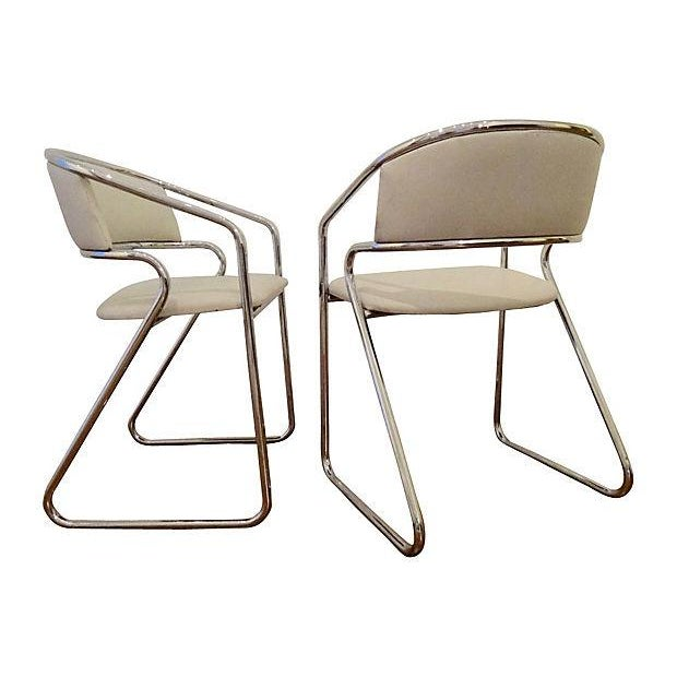 Italian Chrome Modernist Chairs - A Pair - Image 3 of 6