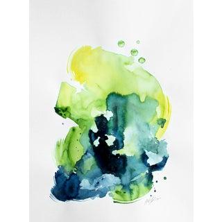 "Ellen Sherman ""Verdant 2"" Watercolor Painting"