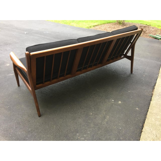 Danish Modern Style Open Arm Sofa For Sale In Philadelphia - Image 6 of 11