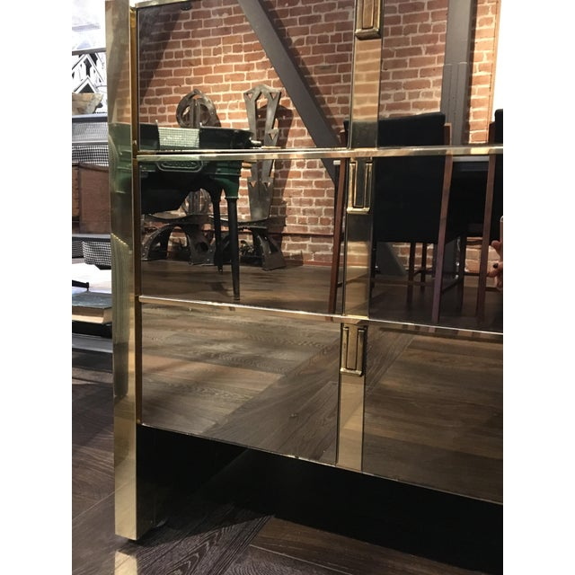 Mid-Century Modern Ello Bronze and Mirror Dresser For Sale - Image 3 of 3