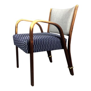 1950s Mid-Century Modern Hughes Steiner Bow Wood Armchair For Sale