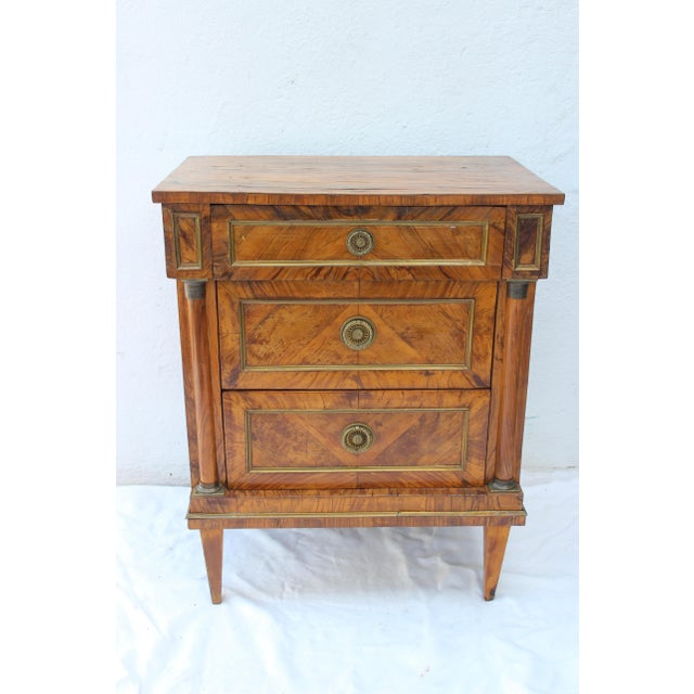 Italian 19th Century Italian Fruitwood Nightstand For Sale - Image 3 of 12
