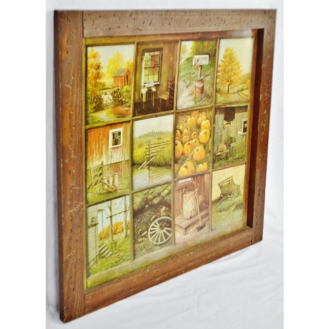 Vintage Home Interior HOMCO 12 Panel Rustic Window Pane