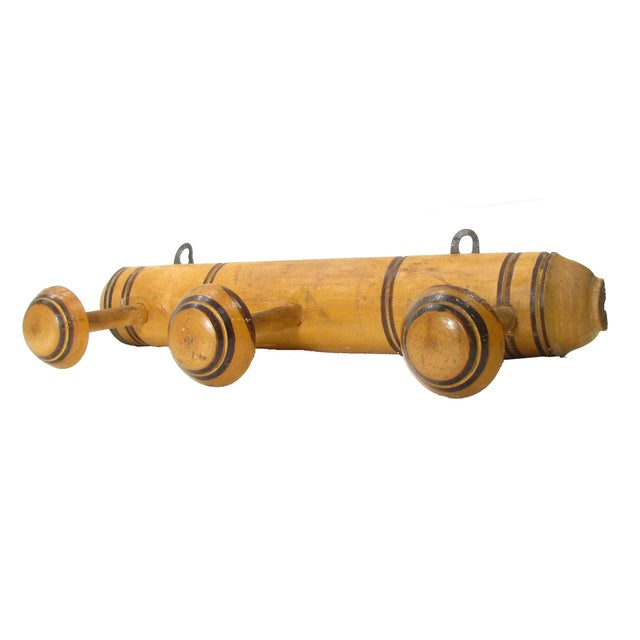 French Deco Wooden Towel Rack - Image 3 of 3