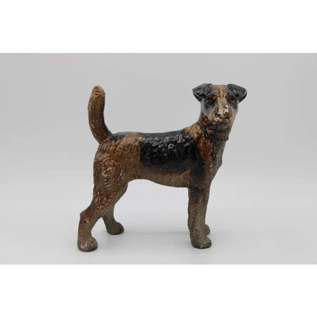 Hubley Manufacturing Company Antique Cast Iron Hubley Dog Door Stop / Garden Statue For Sale - Image 4 of 13