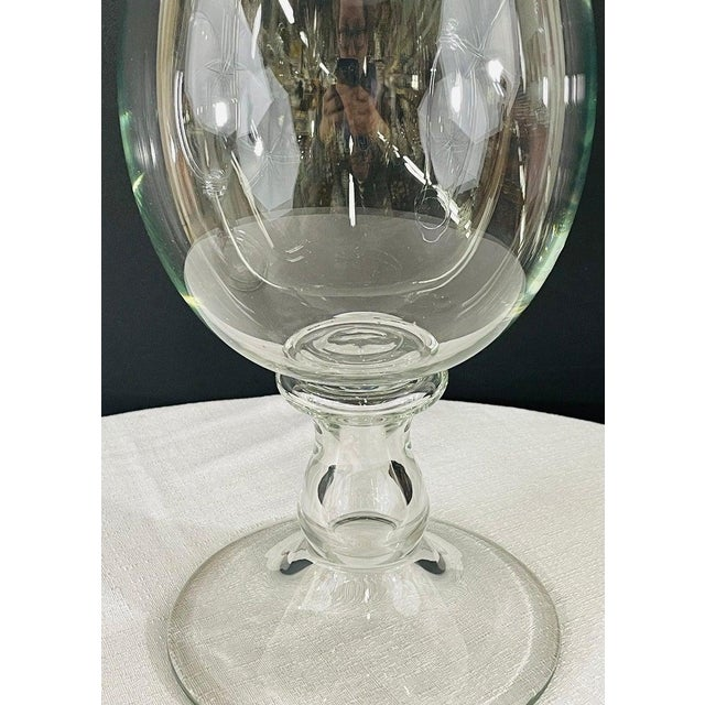 Modern Clear Glass Candleholder or Vase, a Pair For Sale In New York - Image 6 of 10