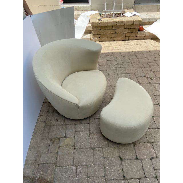 Mid-Century Vladimir Kagan for Weiman Nautilus Chair and Ottoman For Sale - Image 9 of 10