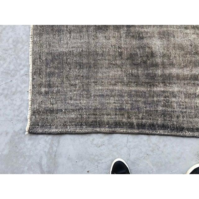 Dark Gray Vintage Anatolian Distressed Rug For Sale - Image 8 of 10