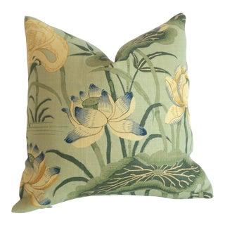 Schumacher Lotus Garden Pillow Cover 16x16 For Sale