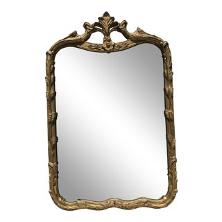 Early 20th Century Antique French Gilded Wood Mirror For Sale