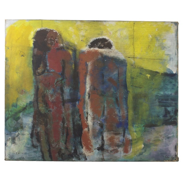 Original Expressionist Painting by Alberto Weller For Sale