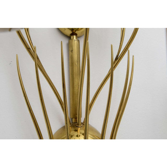 Large Scale 1950's Italian Brass Candle Sconce For Sale - Image 9 of 11