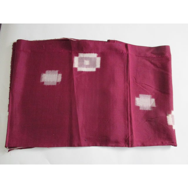 Vintage Burgundy and Natural Obi Textile For Sale In Miami - Image 6 of 6