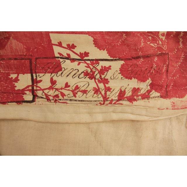 A fabulous find, this textile is an 18th century bedding piece that has the makers mark on one end! An amazing find and...