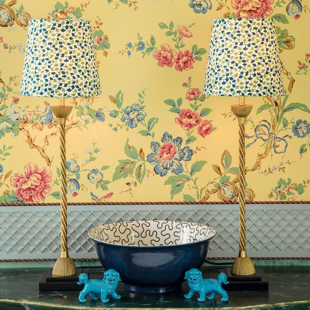 Sized to fit buffet- or candle-style lamps, our Madcap Cottage Howard's End leaf-print fabric lampshade will add a touch...