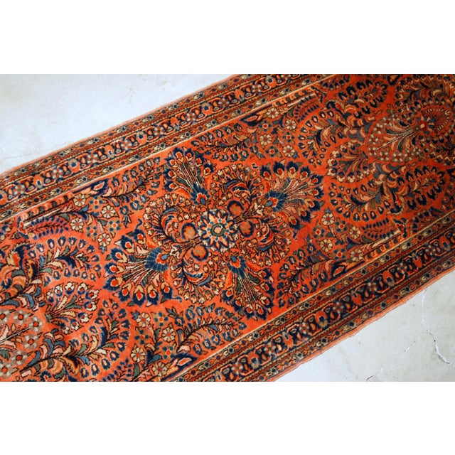 1920s 1920s, Handmade Antique Persian Sarouk Rug For Sale - Image 5 of 8