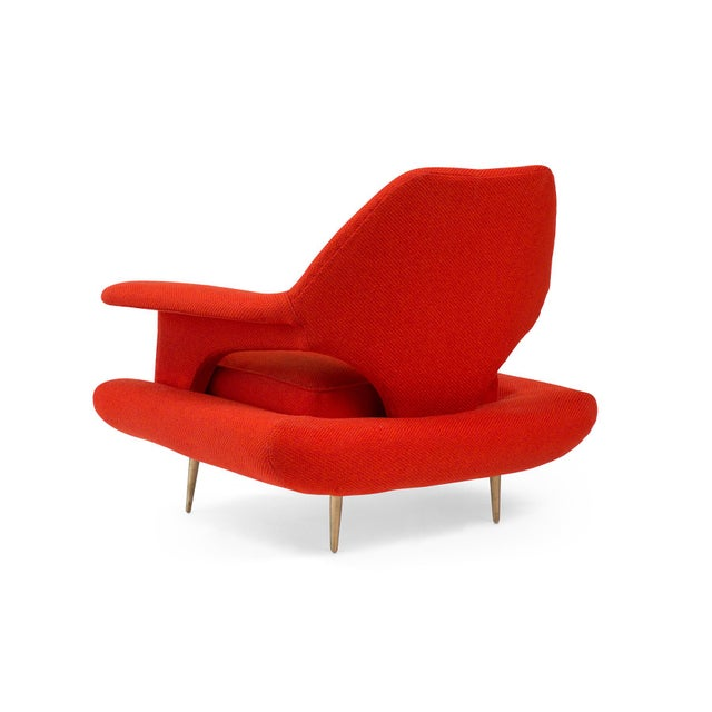 Metal Sculptural Large Mid-Century Italian Lounge Chairs - a Pair For Sale - Image 7 of 10