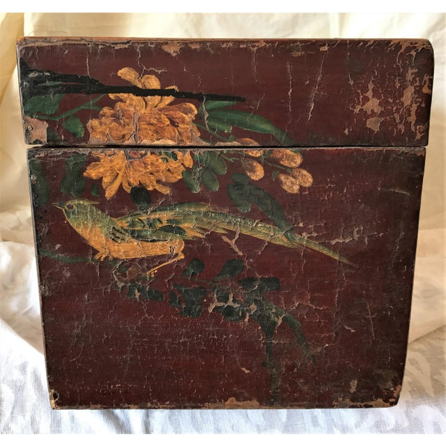Qing Dynasty Hand Painted Chinese Chest - Image 3 of 6