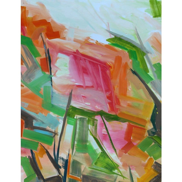 """Abstract Oil Painting by Trixie Pitts """"Peak Path"""" - Image 5 of 5"""