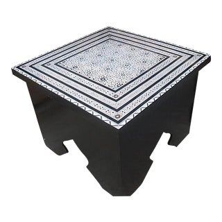 Moroccan Coffee Table With Mother Pearl Inlaid For Sale