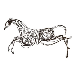 Large Iron Horse Sculpture For Sale